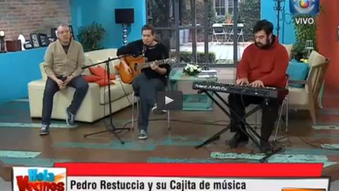 Pedro Restuccia y José Redondo Hola Vecinos Canal 10